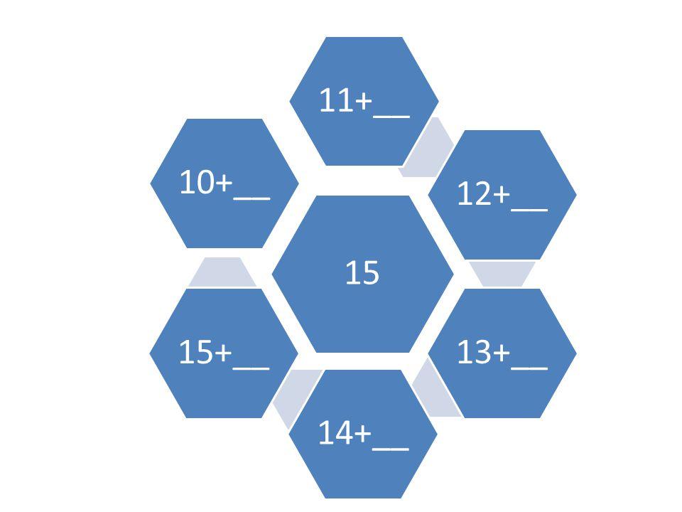 15 11+__ 12+__ 13+__ 14+__ 15+__ 10+__