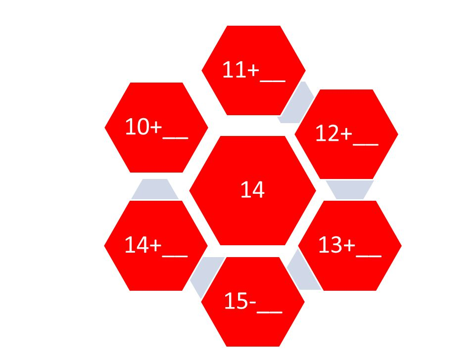 14 11+__ 12+__ 13+__ 15-__ 14+__ 10+__