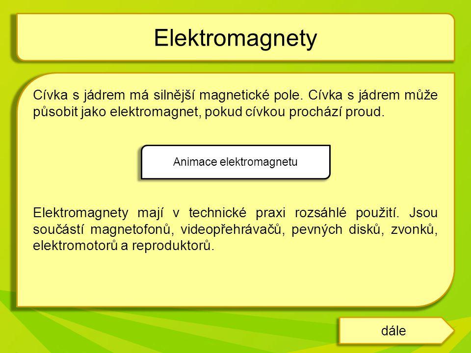 Animace elektromagnetu