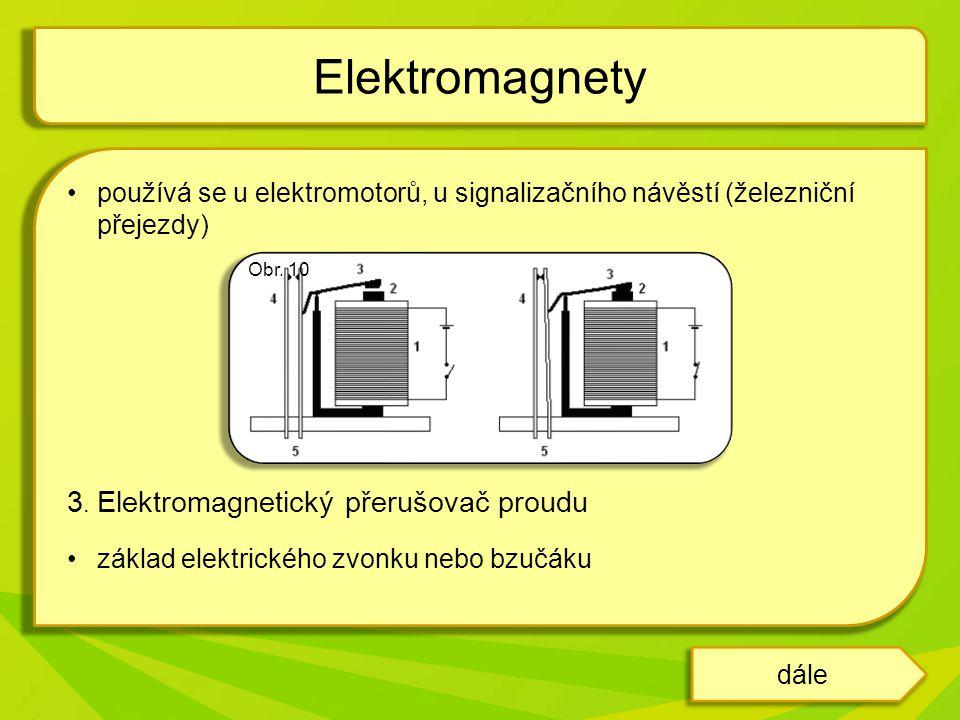Elektromagnety 3. Elektromagnetický přerušovač proudu