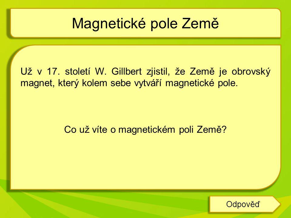 Co už víte o magnetickém poli Země