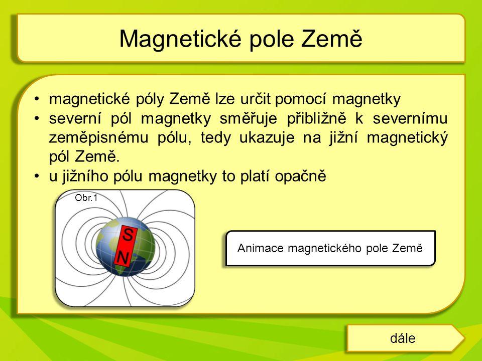 Animace magnetického pole Země