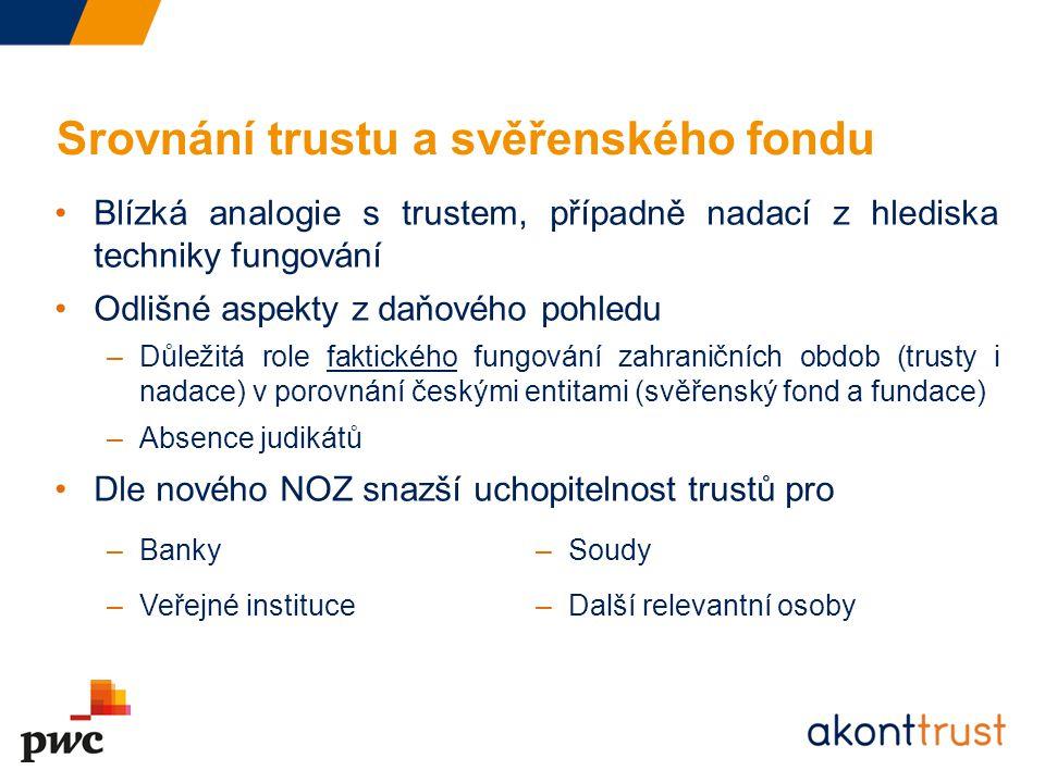 Srovnání trustu a svěřenského fondu