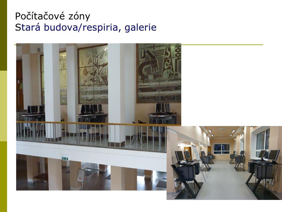 Počítačové zóny Stará budova/respiria, galerie