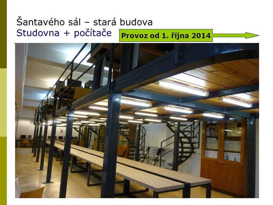 Šantavého sál – stará budova Studovna + počítače