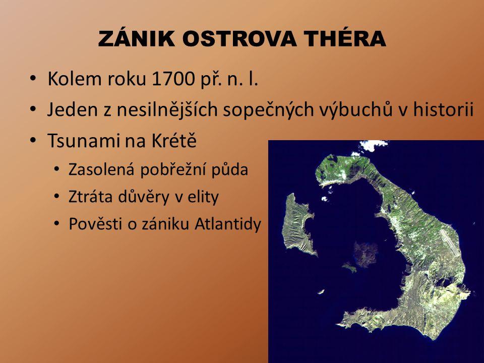 Jeden z nesilnějších sopečných výbuchů v historii Tsunami na Krétě