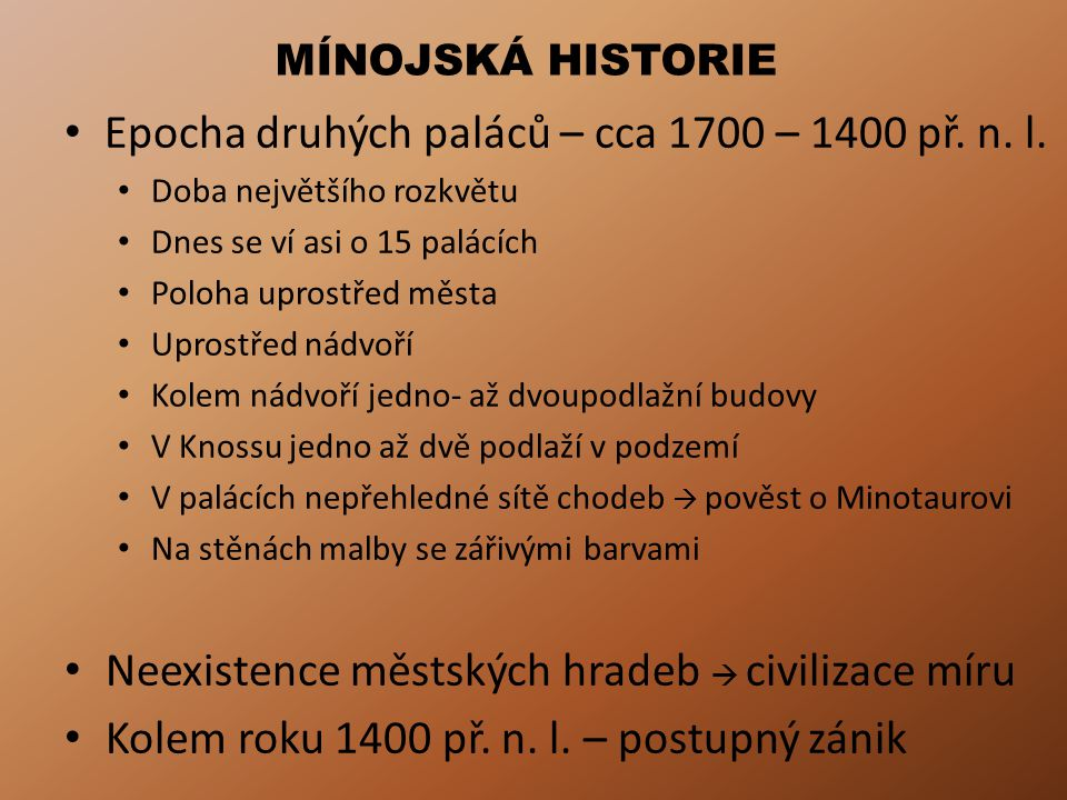 Epocha druhých paláců – cca 1700 – 1400 př. n. l.