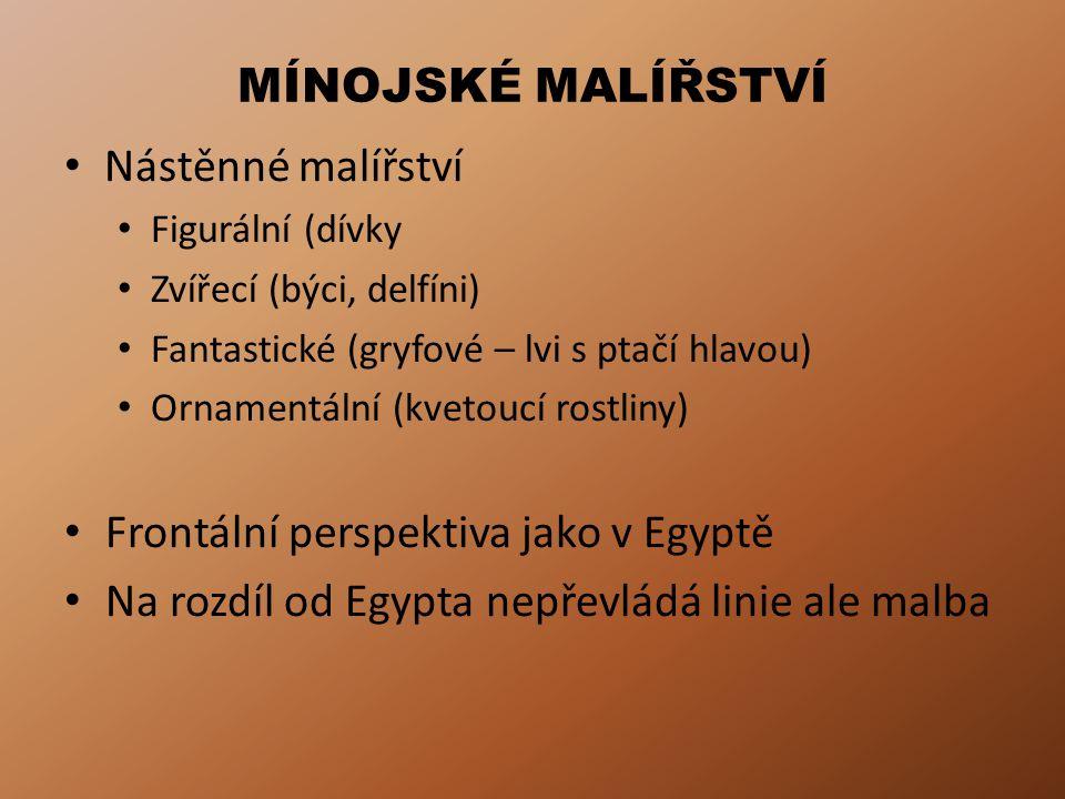 Frontální perspektiva jako v Egyptě