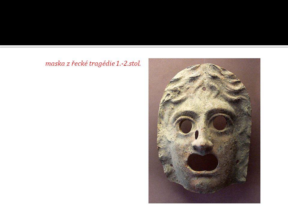 maska z řecké tragédie 1.-2.stol.