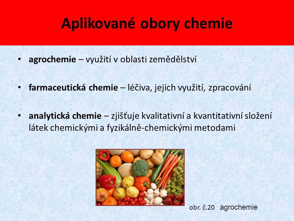 Aplikované obory chemie