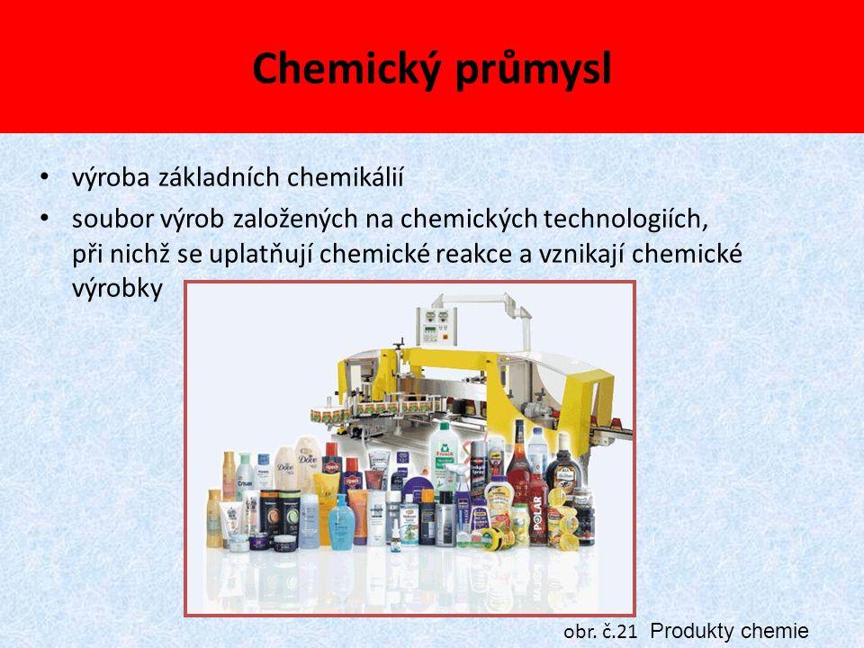 Chemický průmysl výroba základních chemikálií