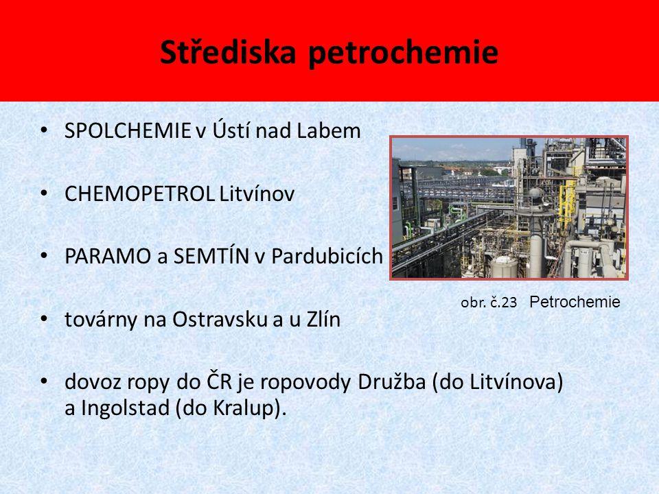Střediska petrochemie