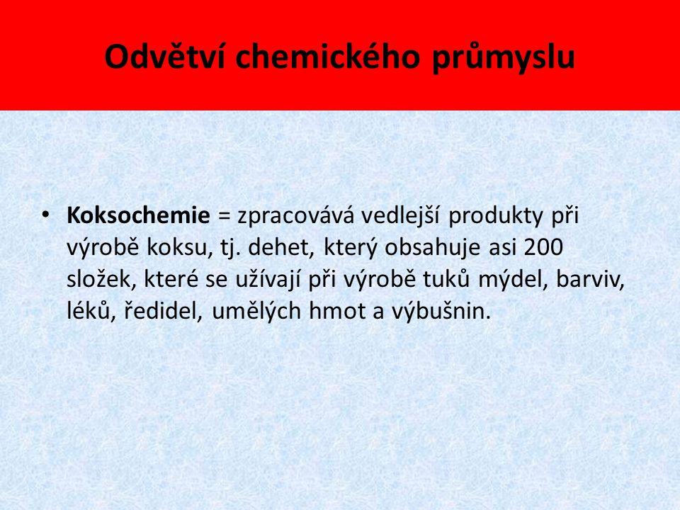 Odvětví chemického průmyslu