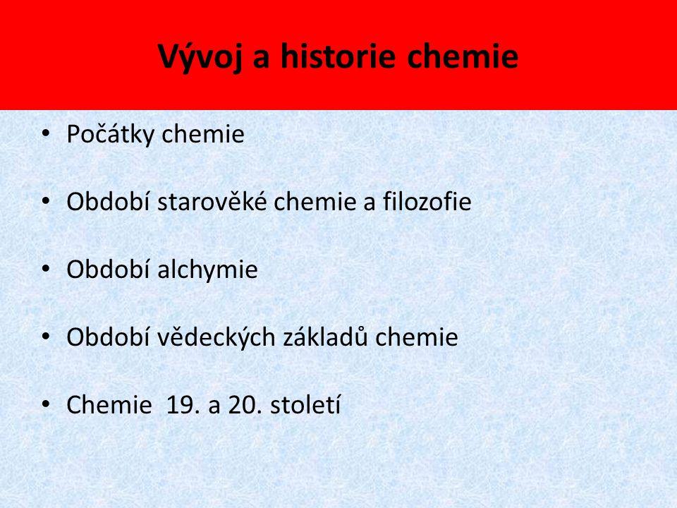 Vývoj a historie chemie