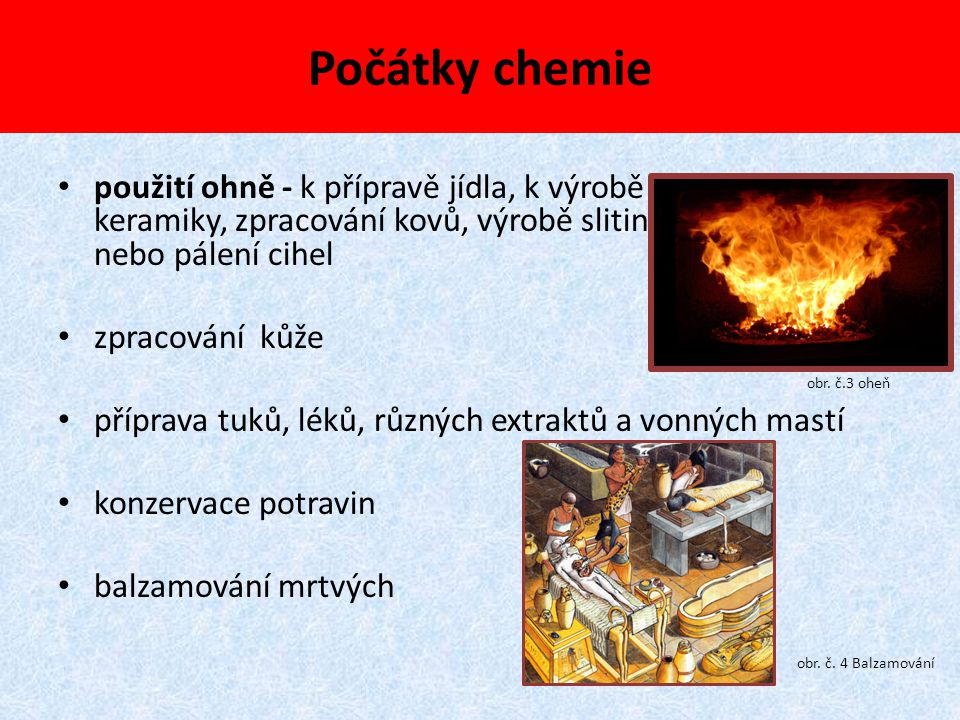 Počátky chemie
