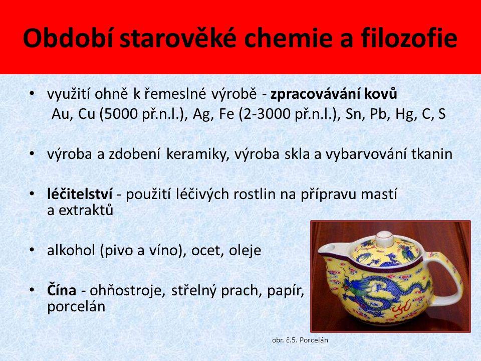 Období starověké chemie a filozofie