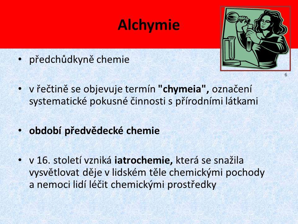Alchymie předchůdkyně chemie