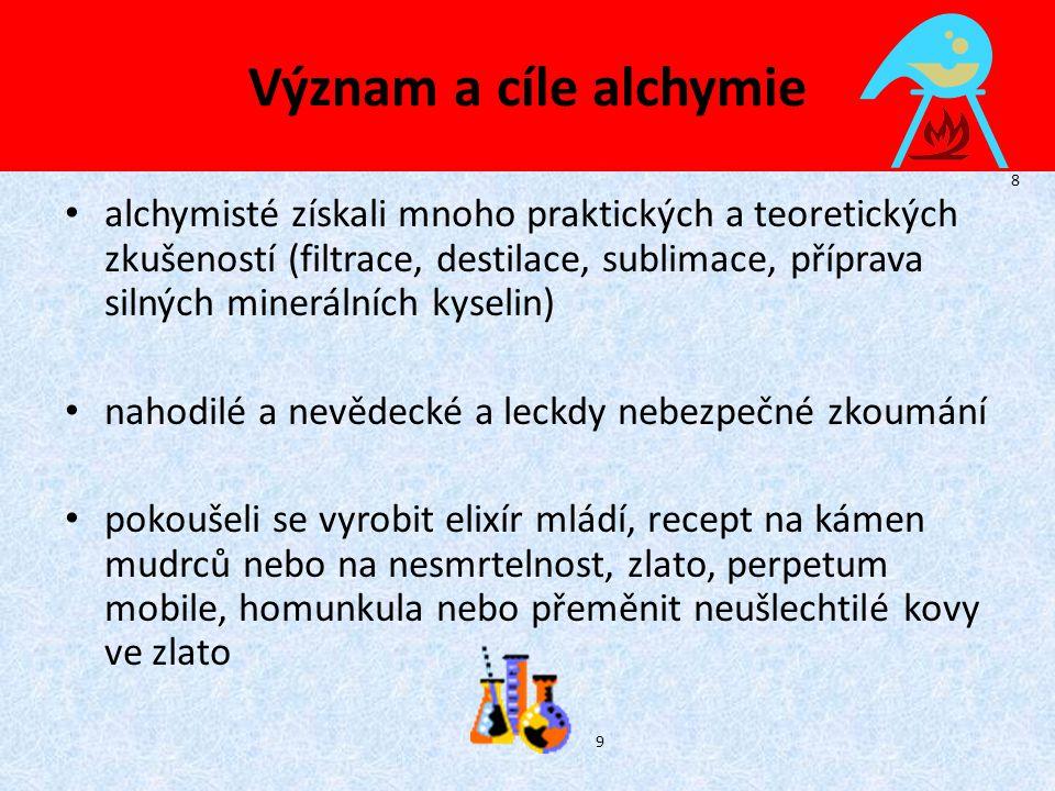 Význam a cíle alchymie 8.