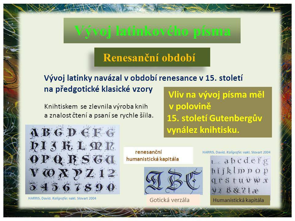 Vývoj latinkového písma