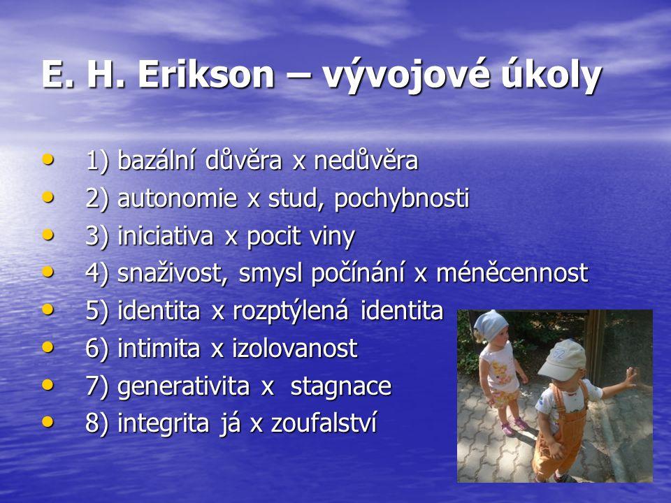 E. H. Erikson – vývojové úkoly