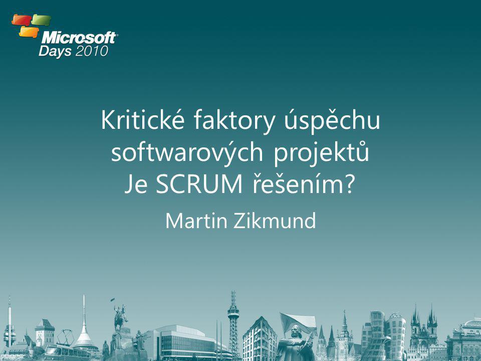 Kritické faktory úspěchu softwarových projektů Je SCRUM řešením