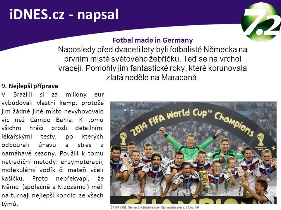 iDNES.cz - napsal Fotbal made in Germany