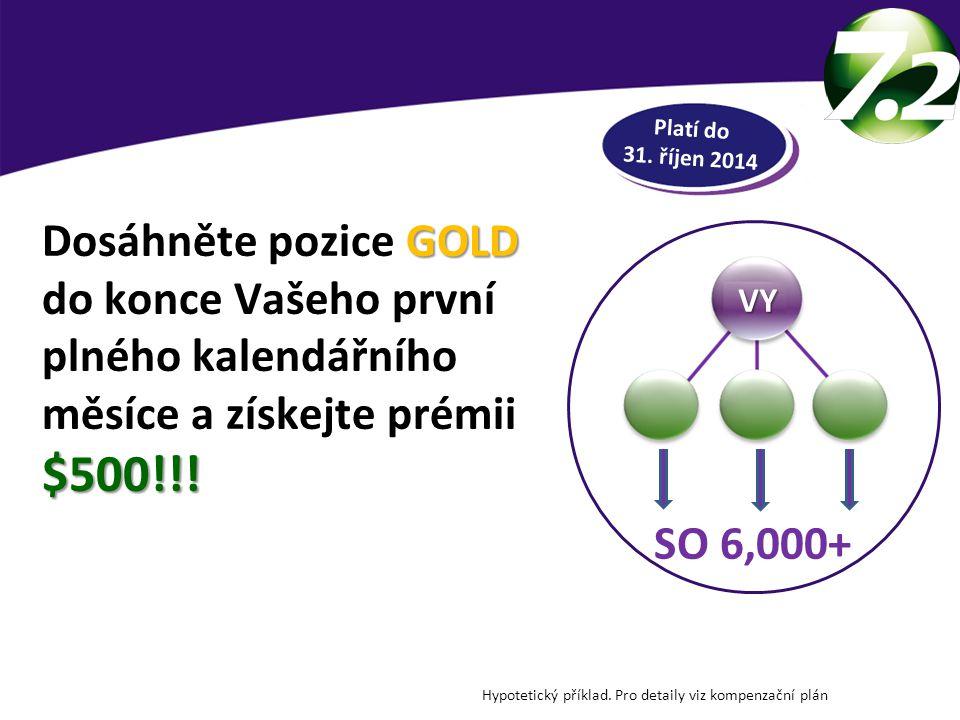 DOSÁHNĚTE POZICE GOLD Platí do 31. říjen 2014. Dosáhněte pozice GOLD do konce Vašeho první plného kalendářního měsíce a získejte prémii $500!!!