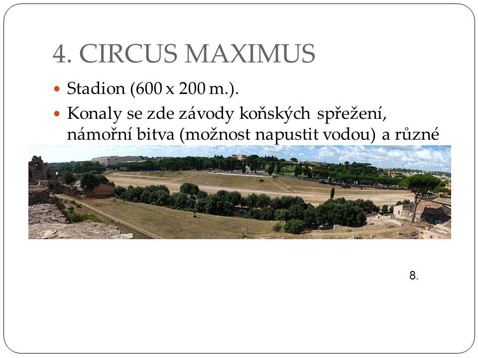 4. CIRCUS MAXIMUS Stadion (600 x 200 m.).