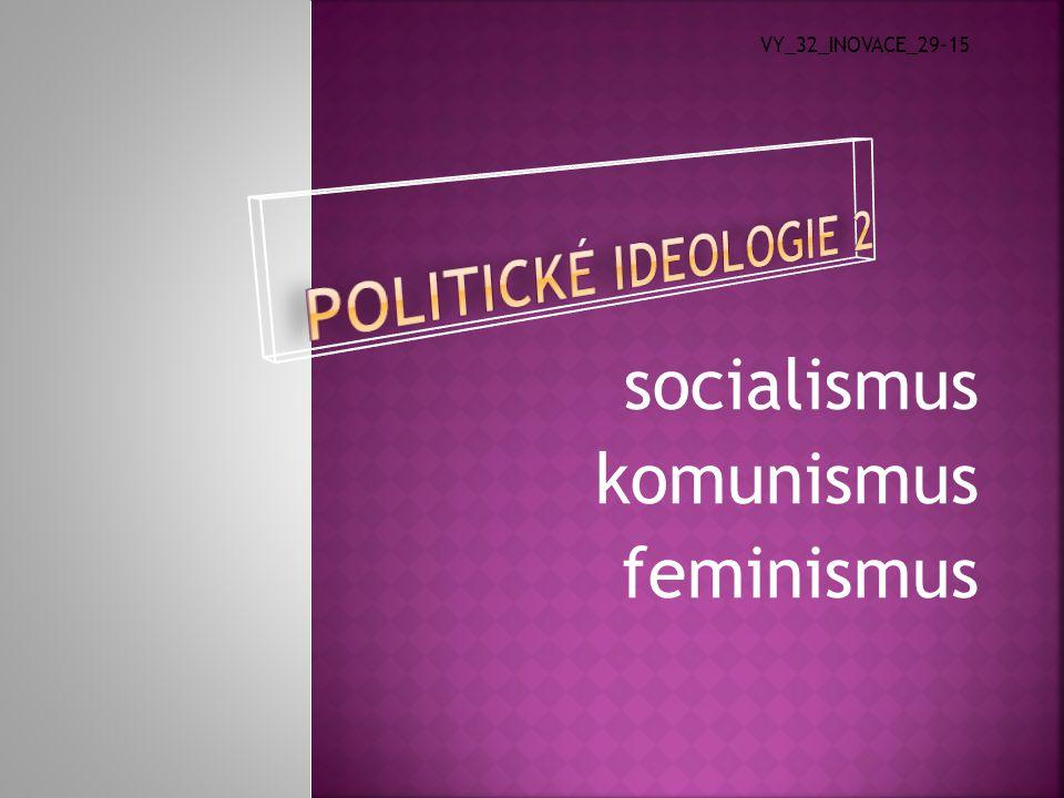socialismus komunismus feminismus