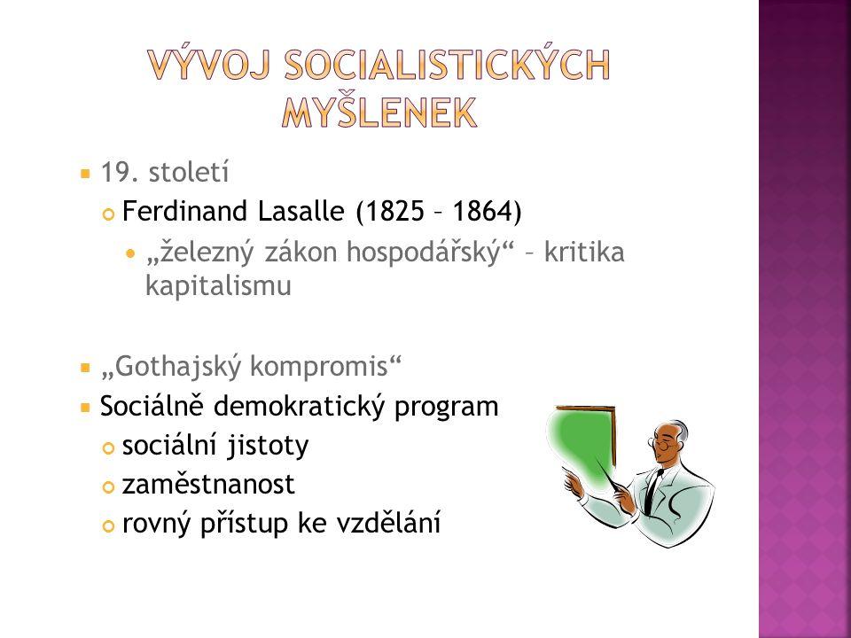 Vývoj socialistických myšlenek