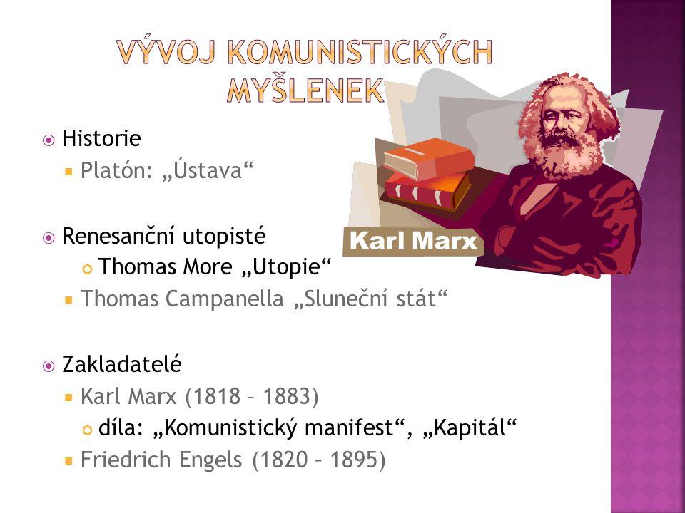 Vývoj komunistických myšlenek