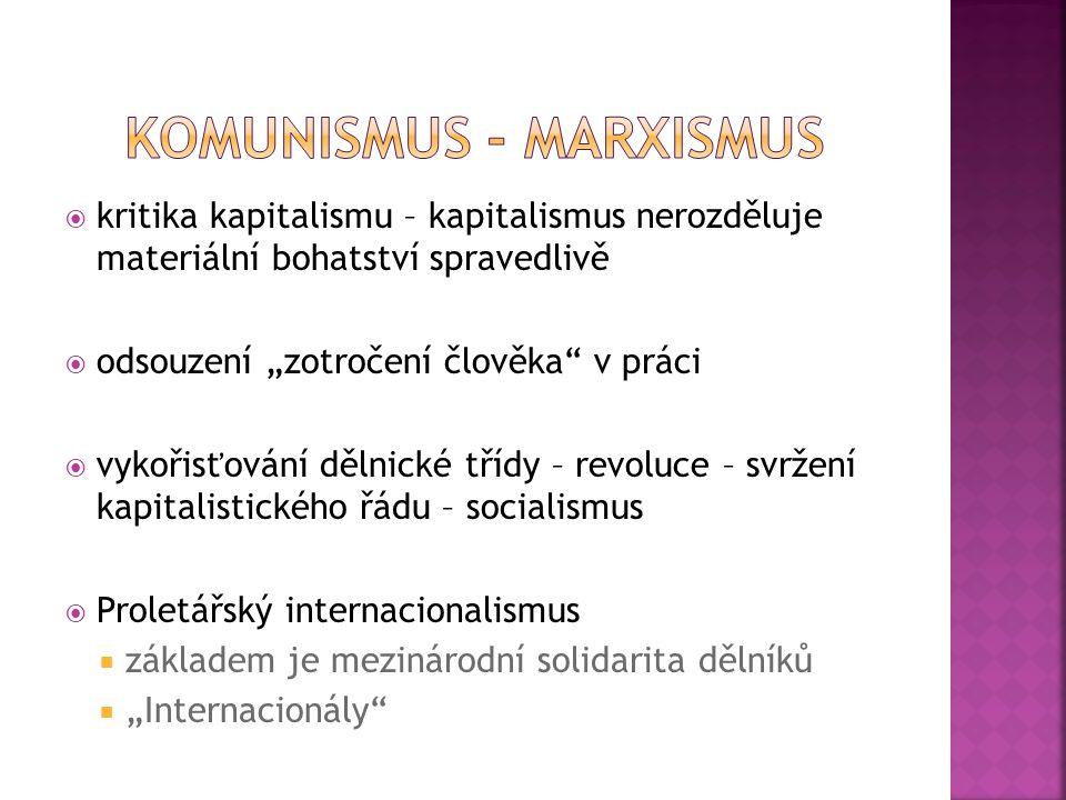 Komunismus - Marxismus