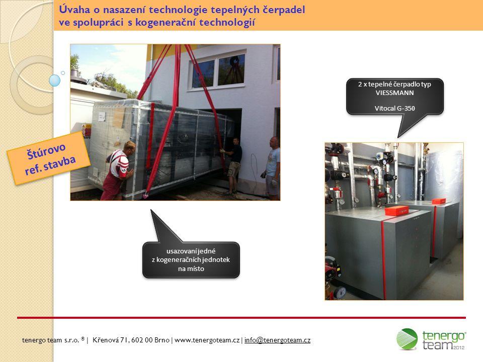 Štúrovo ref. stavba Úvaha o nasazení technologie tepelných čerpadel