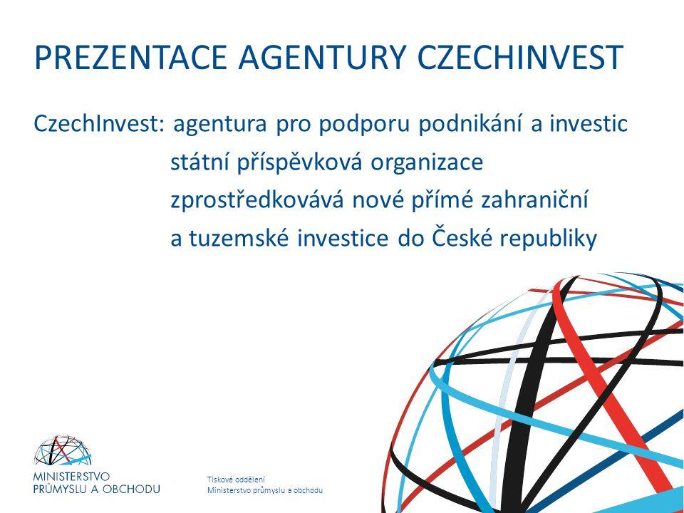 PREZENTACE AGENTURY CZECHINVEST