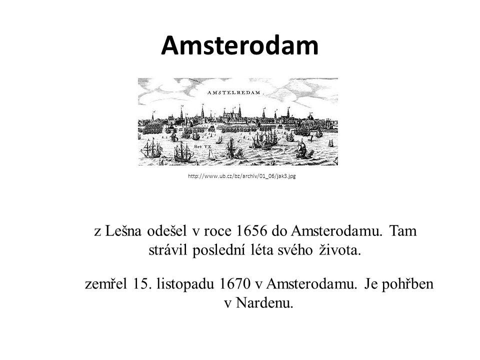 zemřel 15. listopadu 1670 v Amsterodamu. Je pohřben v Nardenu.