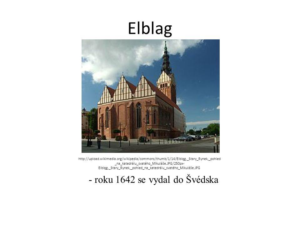 - roku 1642 se vydal do Švédska