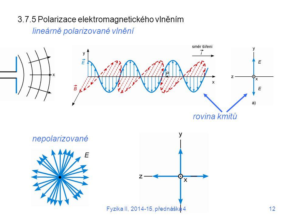 3.7.5 Polarizace elektromagnetického vlněním