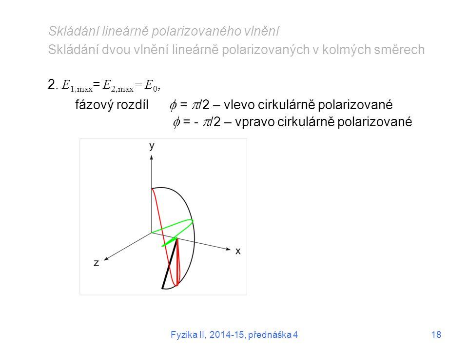 Skládání lineárně polarizovaného vlnění
