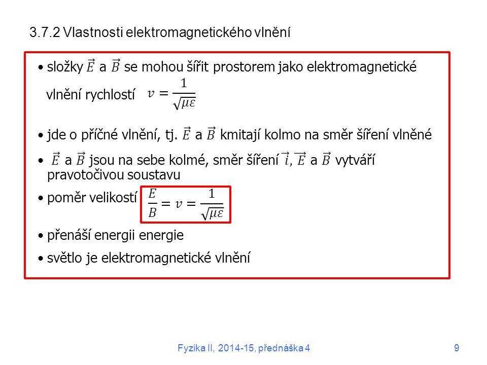 3.7.2 Vlastnosti elektromagnetického vlnění