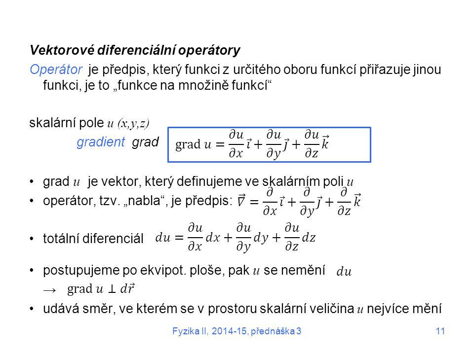 Vektorové diferenciální operátory