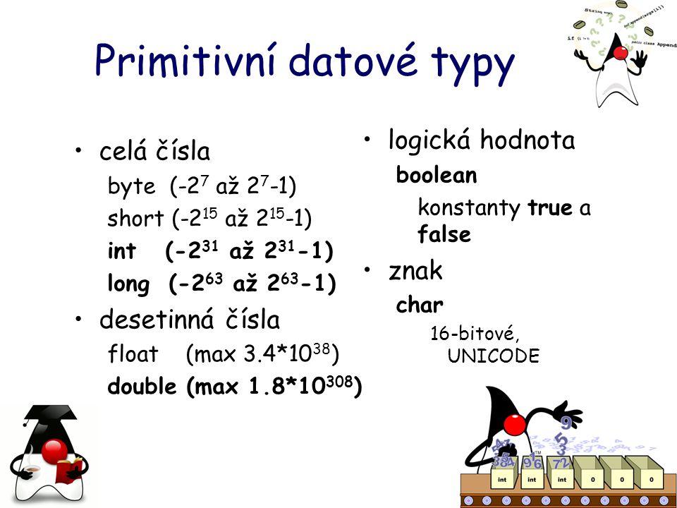 Primitivní datové typy