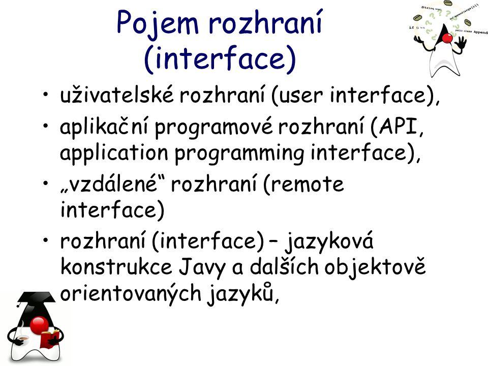 Pojem rozhraní (interface)
