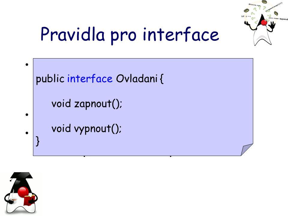 Pravidla pro interface