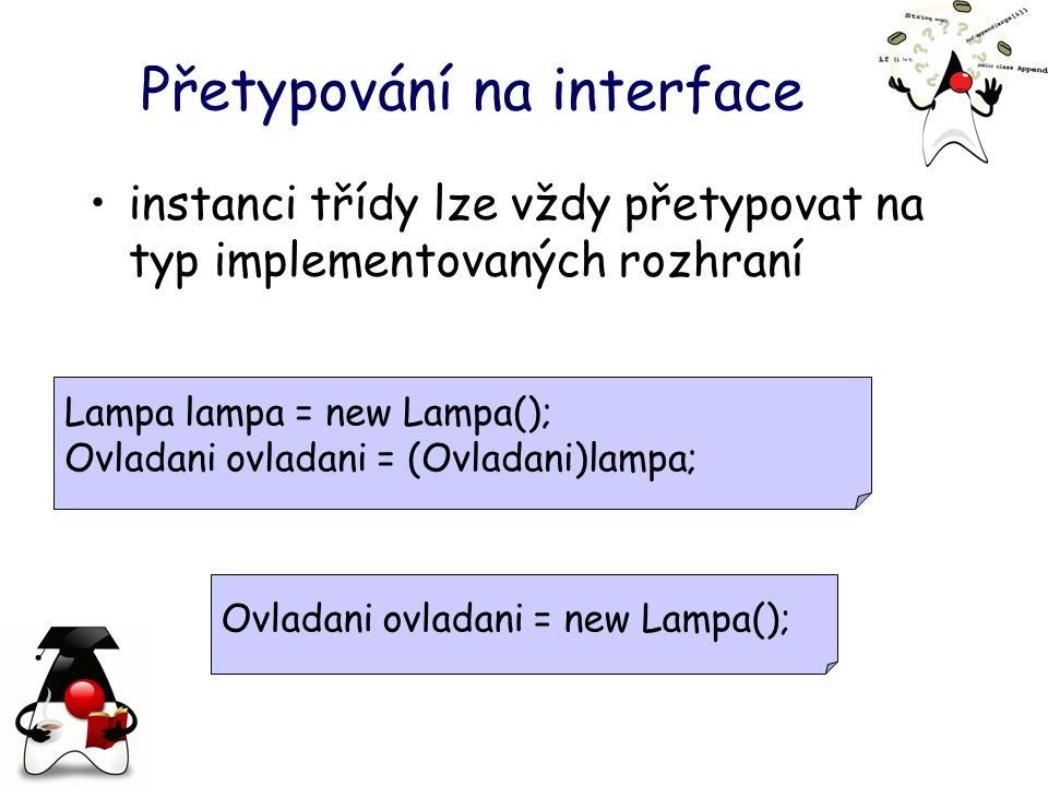 Přetypování na interface