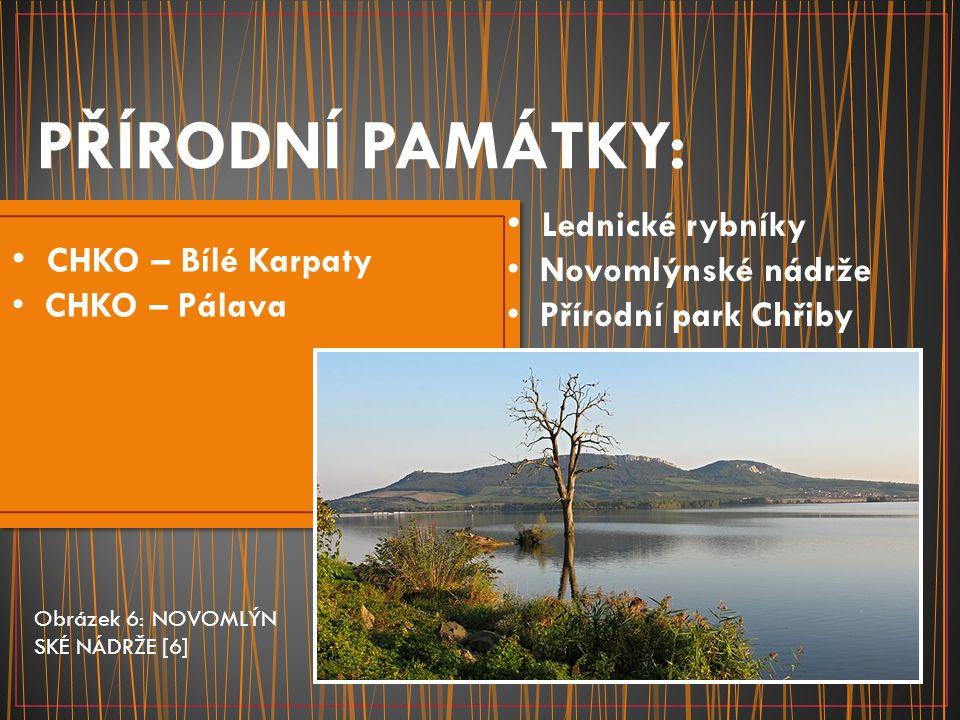 PŘÍRODNÍ PAMÁTKY: Lednické rybníky CHKO – Bílé Karpaty