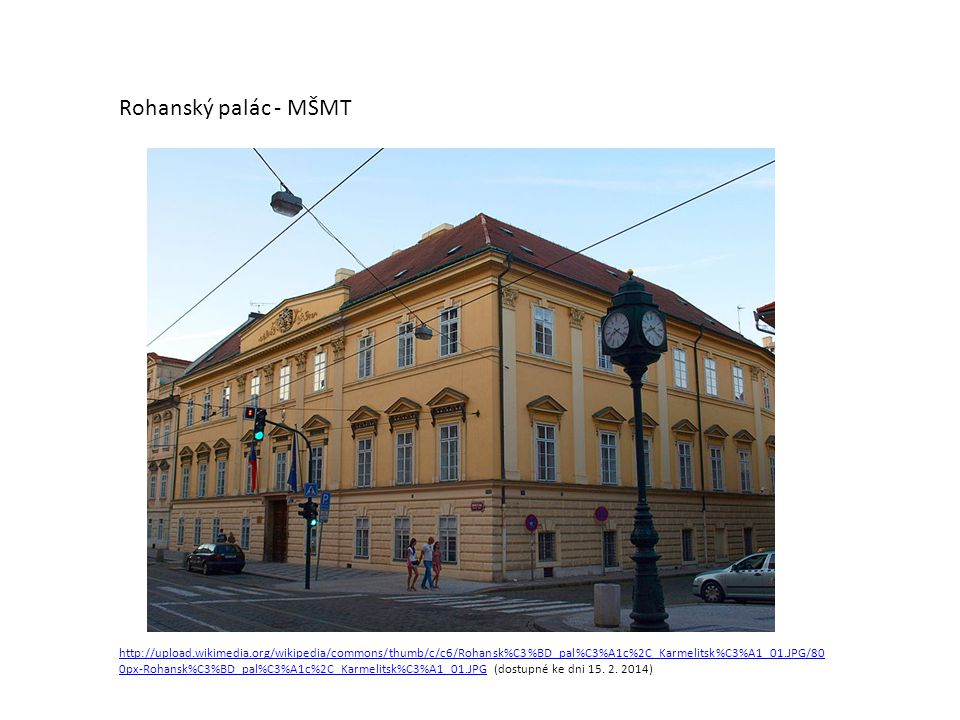 Rohanský palác - MŠMT