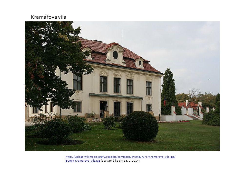 Kramářova vila http://upload.wikimedia.org/wikipedia/commons/thumb/7/75/Kramarova_vila.jpg/800px-Kramarova_vila.jpg (dostupné ke dni 15.