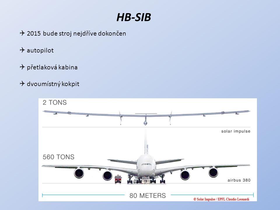 HB-SIB 2015 bude stroj nejdříve dokončen autopilot přetlaková kabina