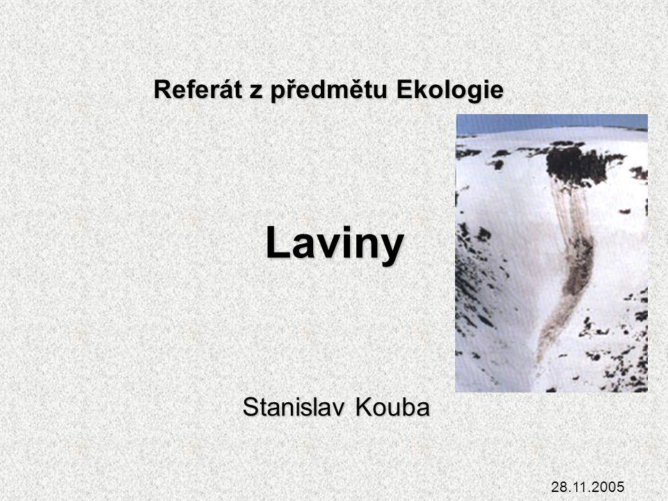 Referát z předmětu Ekologie