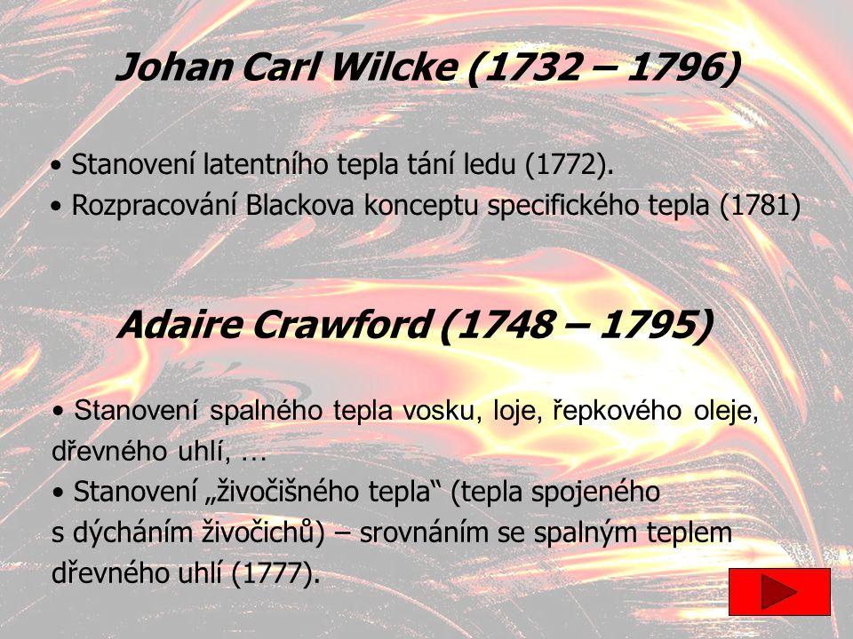 Johan Carl Wilcke (1732 – 1796) Adaire Crawford (1748 – 1795)